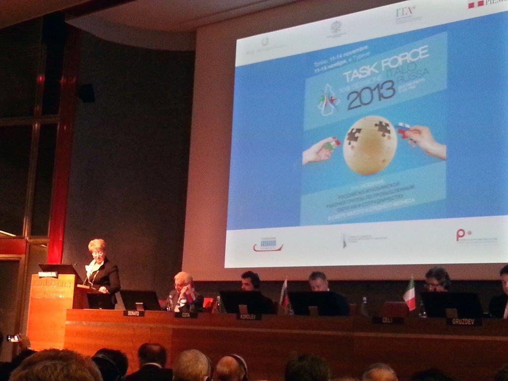 A TORINO L'EDIZIONE ITALIANA DELLA TASK-FORCE ITALO RUSSA 2013