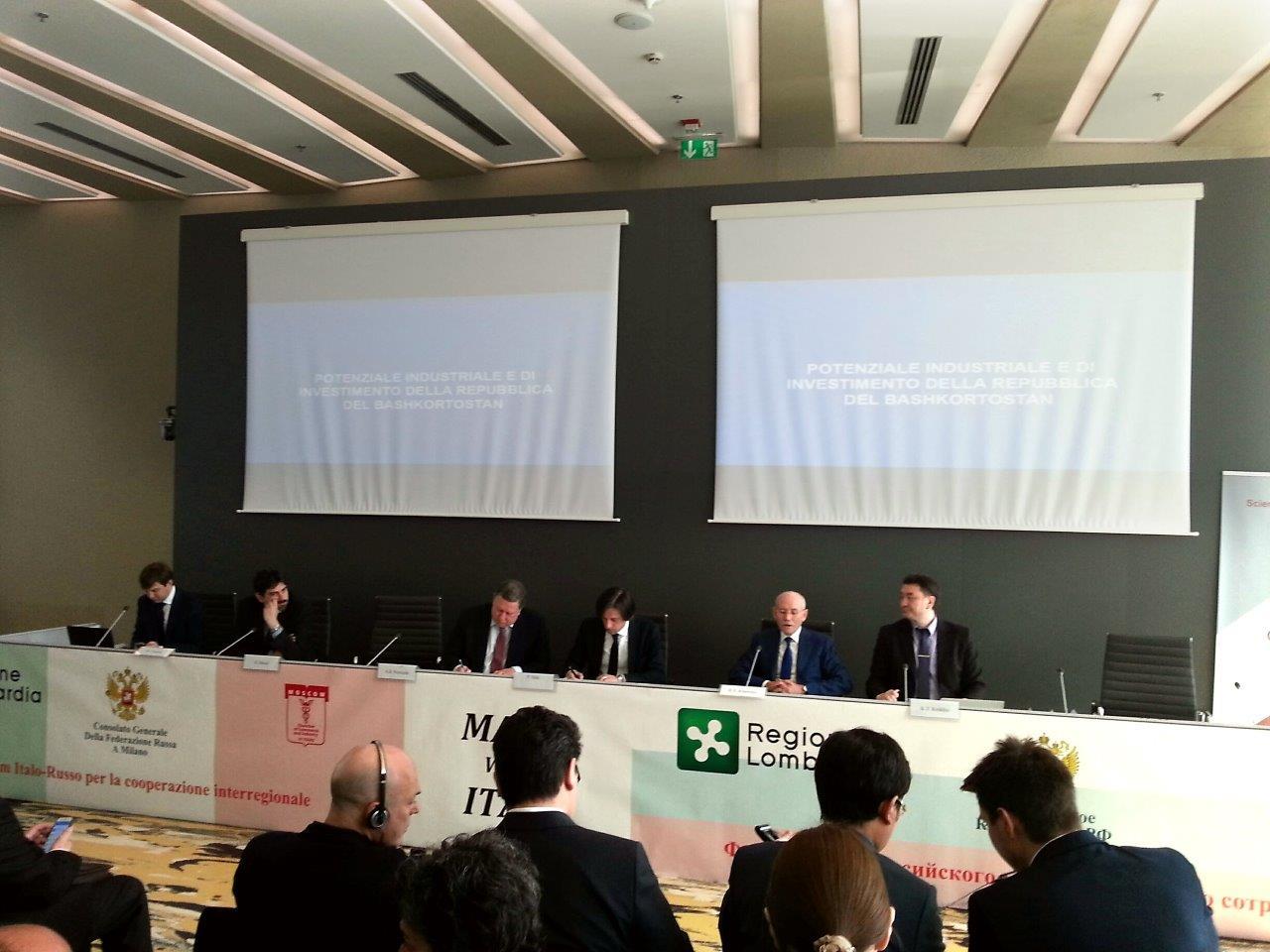 IL CONSOLE MARCO GINESI PARTECIPA AL FORUM ITALO RUSSO PER LA COOPERAZIONE INTERREGIONALE DI MILANO
