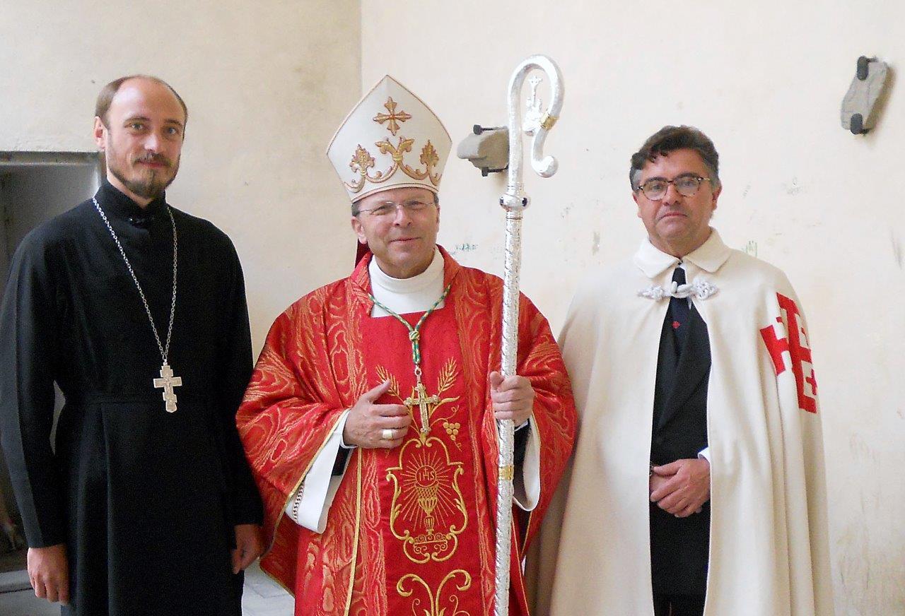Padre Vincislav Tukan alla Festa del Crocefisso di Apecchio