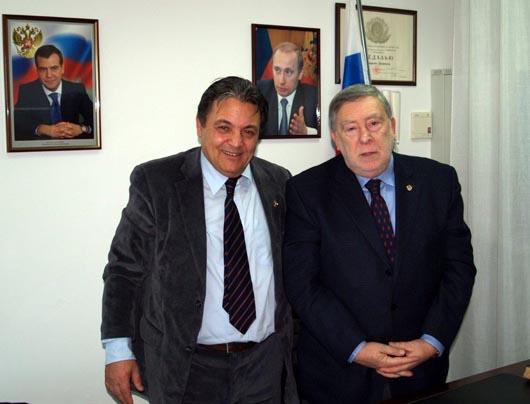 Il Direttore dell'Accademia di Belle Arti di Roma in visita al Consolato Russo di Ancona