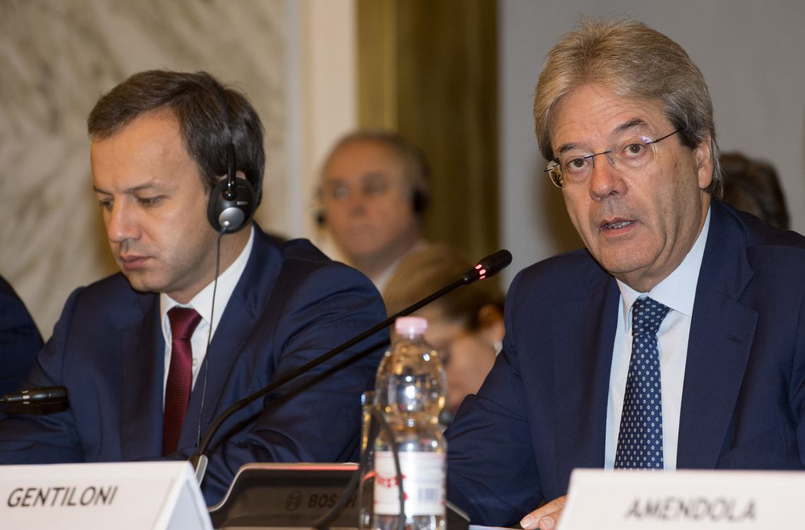 Gentiloni ha aperto alla Farnesina il Consiglio Italo-Russo per la Cooperazione economica, industriale e finanziaria.