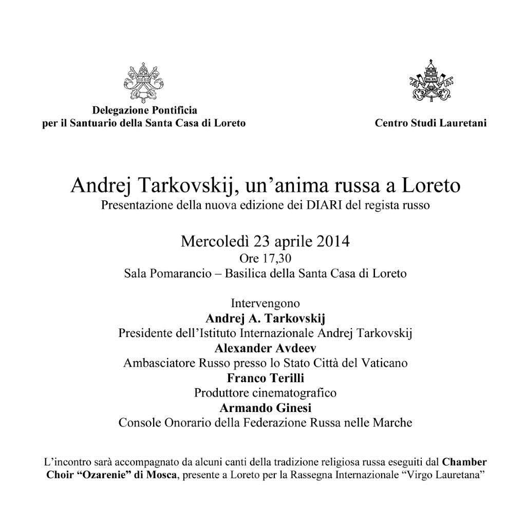 Andrej Tarkovskij, un'anima russa a Loreto