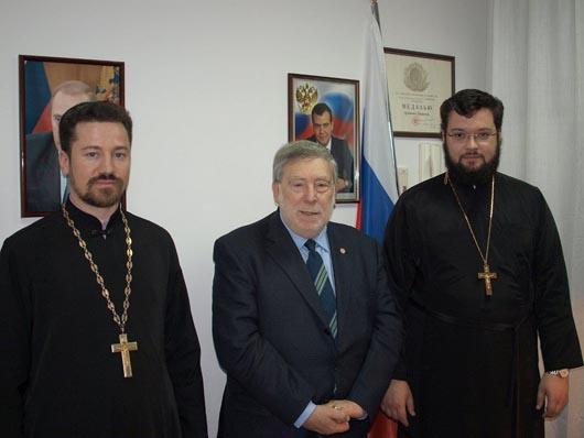 Il Rappresentante in Italia del Patriarcato di Mosca in visita al Console Russo di Ancona