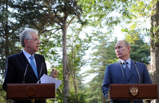 Mario Monti: l\'Italia rafforzer�  le sue relazioni con la Russia
