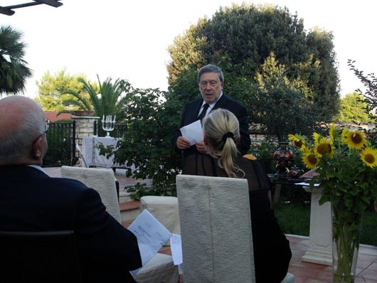 Serata italo-russa nel giardino della Famiglia Piazzolla Danilova