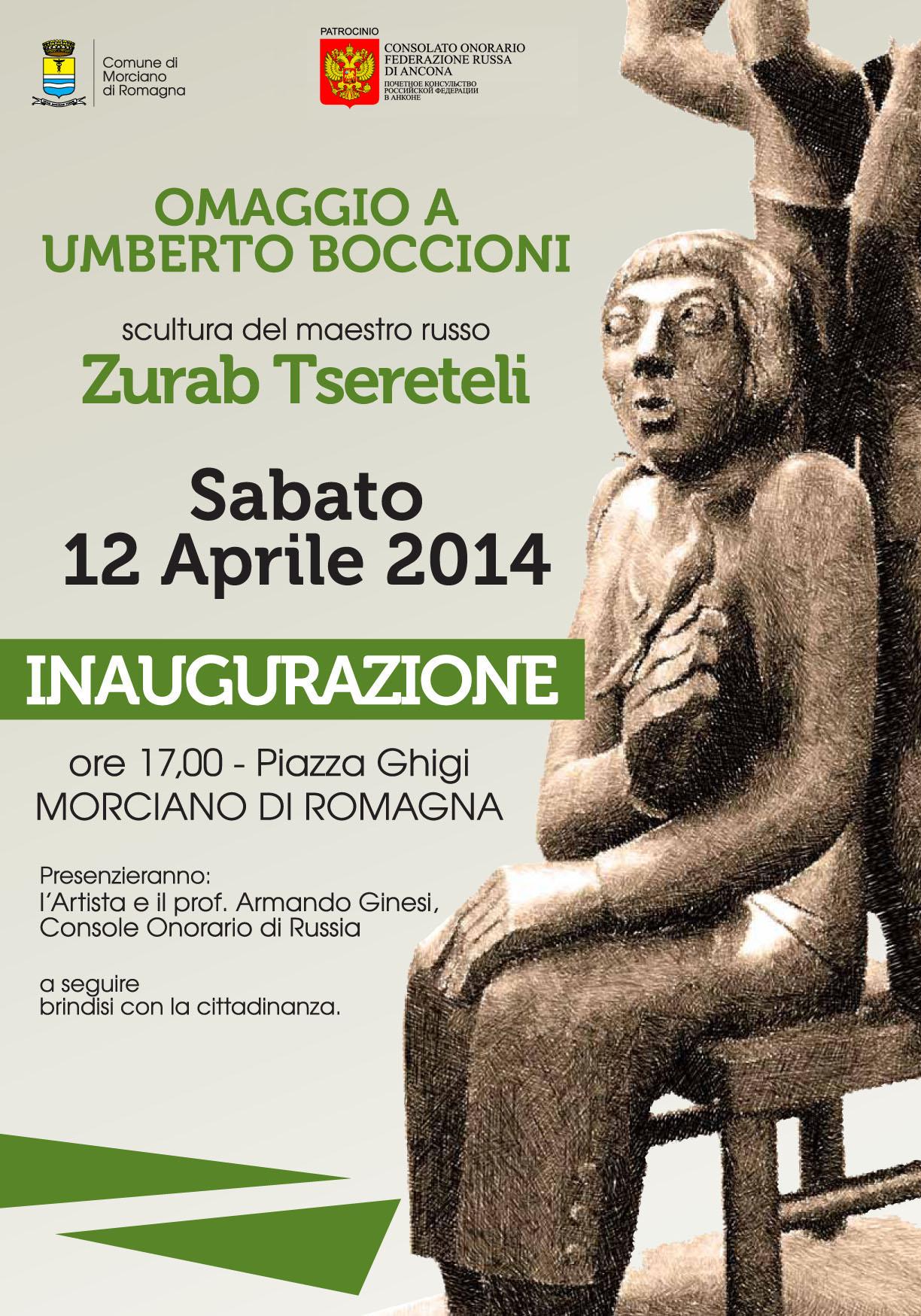 Omaggio a Umberto Boccioni del maestro russo Zurab Tsereteli