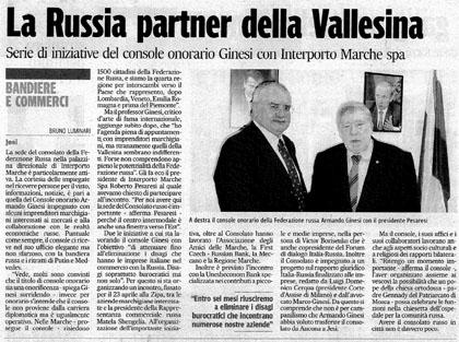 La Russia Partner della Vallesina