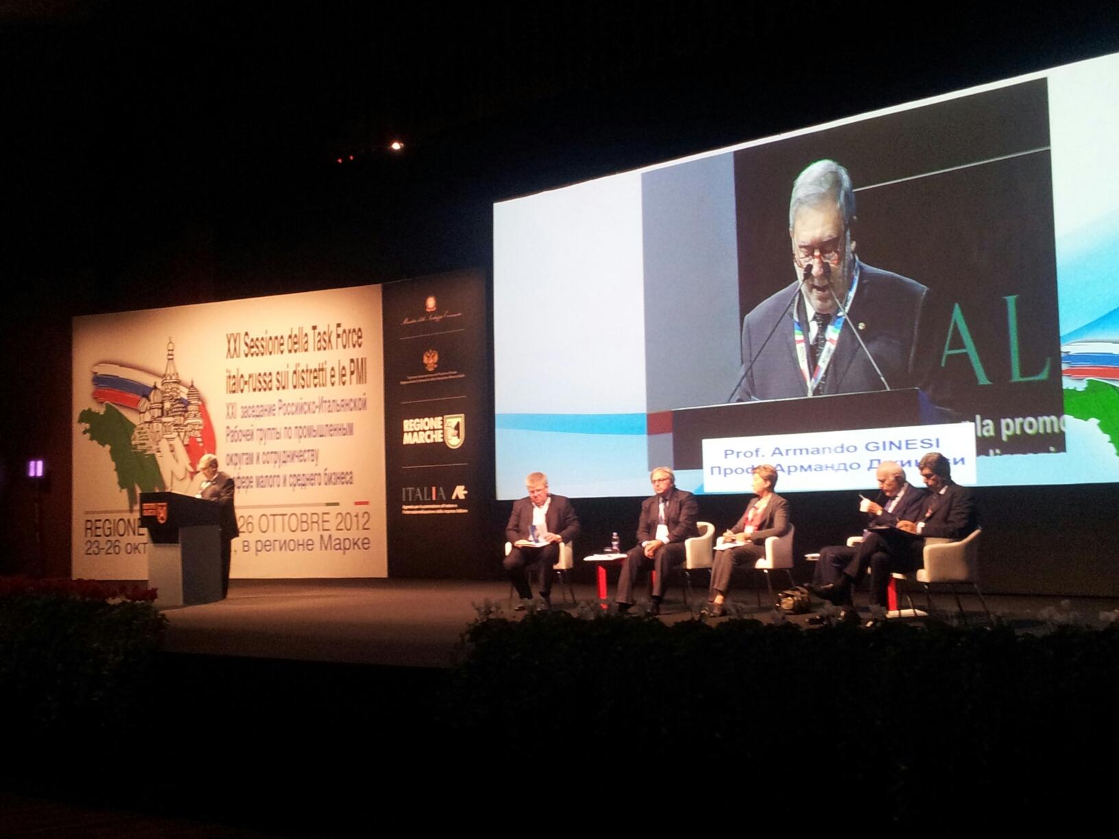 Testo dell'intervento del Console Armando Ginesi alla XXI edizione della Task Force Italo-Russa